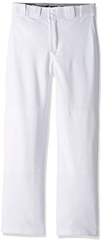 EASTON RIVAL 2 Baseball Softball Pant | Youth | Large | White | 2020 | Double Reinforced Knee | Elastic Waistband w/ 2 Color Internal Easton Logo | 2 Batting Glove Pockets | 100% Polyester