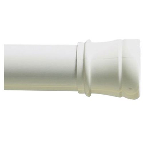 Adjustable Curtain Rod - Zenna Home 502W, Tension Shower Stall Rod, 26 to 40 Inch, White
