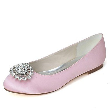 EU36 Wedding Heel Summer Spring CN36 Red Blue Satin Silver Ivory UK4 US6 Purple Party Flat amp;Amp; Women'S Black Winter Evening Pink White Fall qfRwwXv