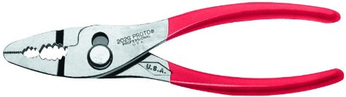Proto - Slip-Joint Thin Nose Pliers W/Grip - 6-11/16