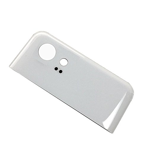 Dogxiong White for Google Pixel 2 XL / Pixel2 XL, Back Rear Battery Housing Top Upper Part Really 100% True Genuine Glass Camera Lens Cover + Adhesive Fix Replacement Parts