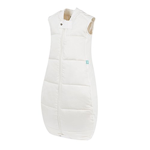Ergo Pouch Organic Cotton Quilt Sleepsack, White, 2-12 Month