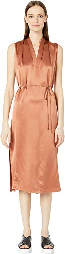 Vince Sleeveless Drape Neck Dress Cliff Ember SM