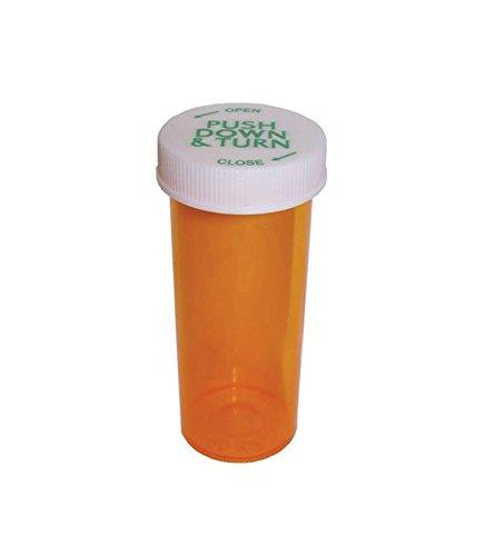 Cafe Cubano® 60 Dram Prescription Pill Bottle / Vials; Large Size 3.75 Oz / 60Dram with Child Resistant Caps (6)