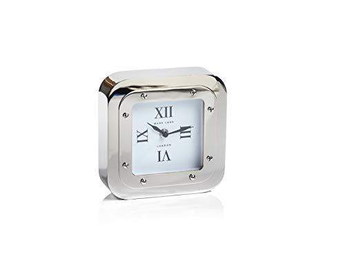 (Zodax Mark Lane Silver Table, Large Desk & Shelf Clock,)