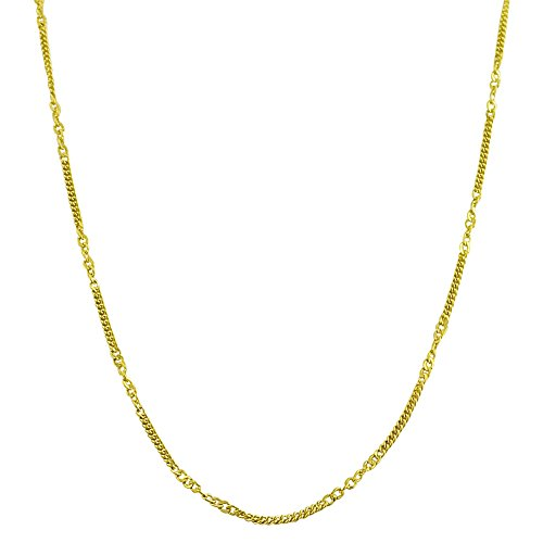 - 14k Yellow Gold 1mm Curb Chain Necklace (24 inch)