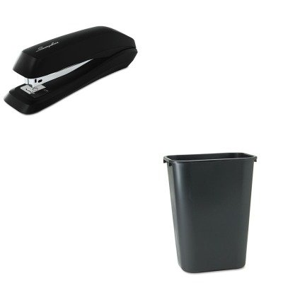 Wastebaskets Standard (KITRCP295700BKSWI54501 - Value Kit - Rubbermaid Deskside Plastic Wastebasket (RCP295700BK) and Swingline Standard Strip Desk Stapler (SWI54501))