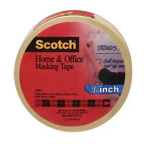 Scotch(R) Home and Office Masking Tape 3436-3, 3/4-inch x 60 Yards