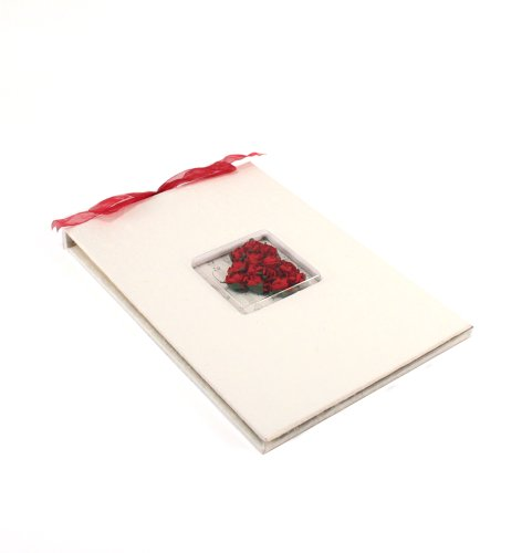 (Weddingstar Flower of Love in Romantic Red Guest Book)