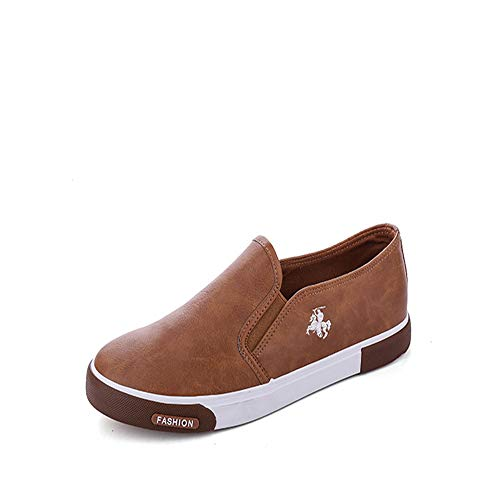 Mocasines en Zapatos Negocios Cómodo Blanco de Oficina Marrón Deslizamiento de Caqui Hombres Casuales Negro Plano para Color vq0wv4H