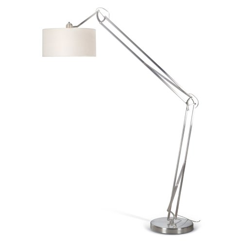 Artiva USA Architect, Contemporary Design, 86-Inch Arch Adjustable Brushed Steel Floor Lamp with Heavy-duty Base and Large Drum (Brushed Nickel Contemporary Floor Steel)