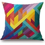 Wedge Corner Slipcover - Geometric Pillow Covers 20 X 20 Inches / 50 By 50 Cm For Floor,kids Boys,sofa,floor,dining Room,adults With 2 Sides