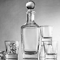 Palais Glassware Carré Collection; Glassware Set - Choose From a Selection of Highballs, Dof's and a Whiskey Set (5 piece Square Whiskey set)