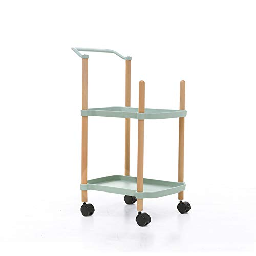 - Trolley Chunlan 2-Layer Rectangular Dining Car, Multi-Purpose Wheeled Mobile Tool Cart, 3 Colors (Color : Green, Size : 333480cm)