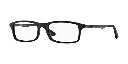 Ray-Ban Men's RX7017 Eyeglasses Matte Black 52mm