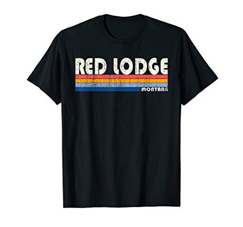(Vintage 70s 80s Style Red Lodge MT T-Shirt)