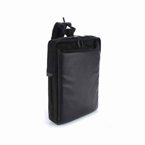 "Tucano Fina Pack 17"" Backpack Black - notebook cases (43.2 cm (17""), Backpack, Black, Leather, Nylon, Apple MacBook Pro, 280 x 375 x 45 mm)"