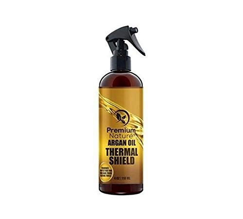 Argan Oil Thermal Hair Protector Spray 4oz For Styling Flat Iron & Hot Blow Dry Hair ()