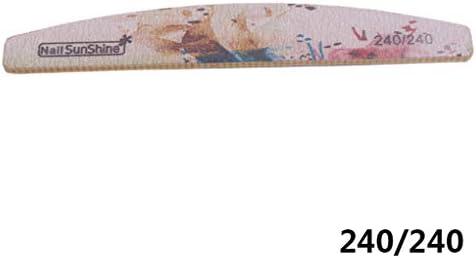 traline 240//240 Grit Limas de u/ñas Floral Buffer Interno Colorido manicura Pulidora Archivos