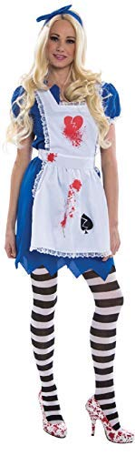Ladies Heartbroken Alice Zombie Adult Fairy Tale Halloween Horror Fancy Dress Costume Outfit (UK 10-12) ()