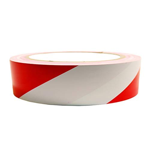 VCR Red & White Floor Marking Tape – 23 Meters in Length 24mm / 1″ Width – 1 Roll Per Pack Price & Reviews
