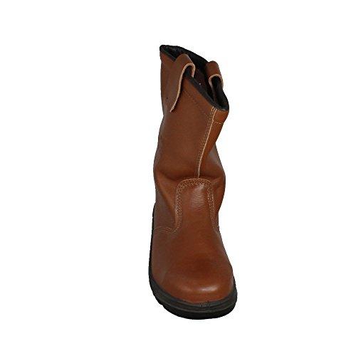 Rigger - Calzado de protección de Piel para hombre Negro negro zSYtln0