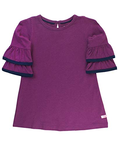 RuffleButts Baby/Toddler Girls Plum Purple Knit Dress w/Ruffle Sleeves - 18-24m -