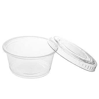 soeasy 200 unidades 1 oz Mini claro Jello Shot tazas con tapas para salsas de vaso de plástico, Strange, restaurantes, fuentes del partido: Amazon.es: Amazon.es