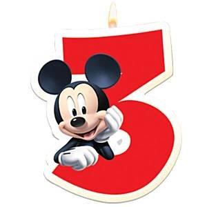 Vela de cumpleaños Mickey Mouse 3: Amazon.es: Juguetes y juegos