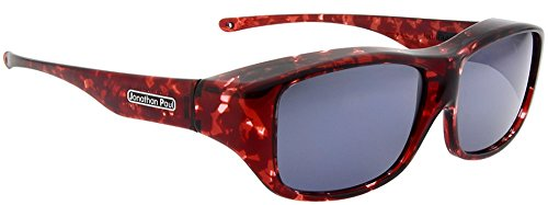 Jonathan Paul Fitovers Quamby Large Polarized Over Sunglasses ; Claret-Tortoise & Polarvue - Eyewear Paul Fitovers Jonathan