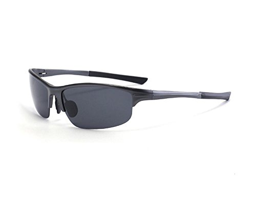 Hero Polarized aluminum magnesium sunglasses outdoor sports riding tide sunglasses (Black color, - Hermes Mens Sunglasses