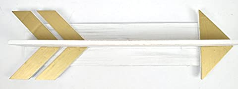Concepts 24X7 White and Gold Arrow Shelf Wall Hanger (White And Gold Shelves)