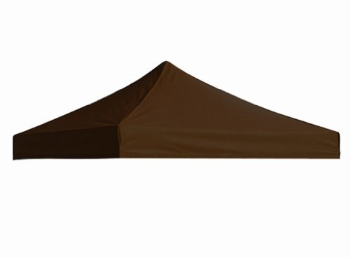 Eurmax New Pop up 10x10 Replacement Instant Ez Canopy Top Cover Choose 15 Colors (Brown) ()
