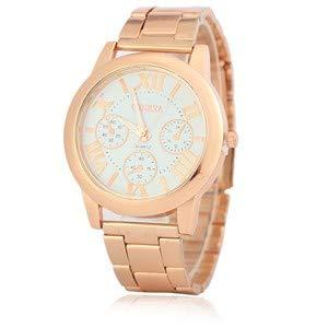 HTRHHG Ladies Watch Relojes Mujer Reloj de Cuarzo Geneva Rose Gold Reloj Mujer Relojes, 1