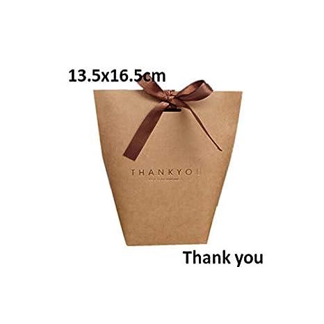 Amazon.com: Xiaogongju Romántico Kraft Bolsa de Regalo con ...