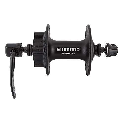 Shimano M475L Hub, 32H, Black - Front M475 Disc Hub