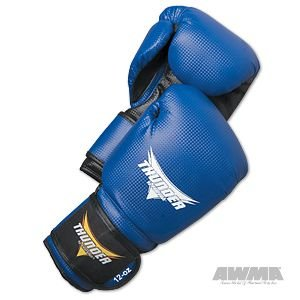 ProForce Thunder Vinyl Boxing Gloves - Metallic Blue (Mitt Vinyl)