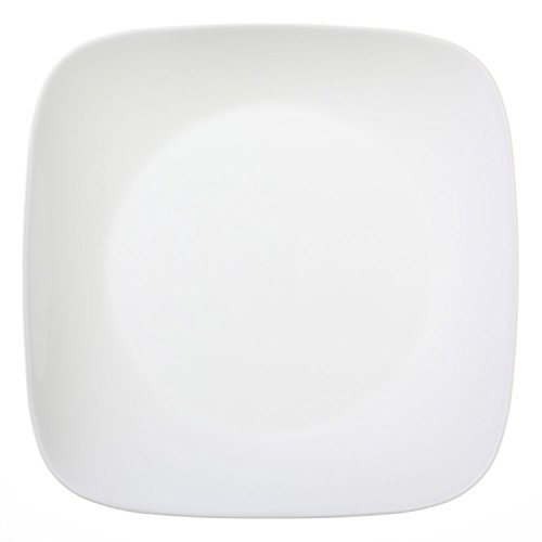 "Corelle Square Pure White 10.25"" Dinner Plate (Set of 12)"