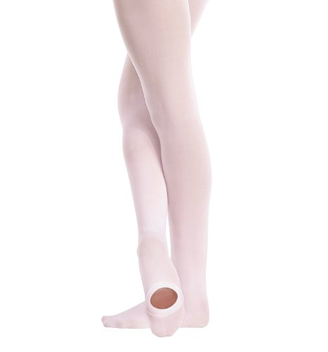 Body Wrappers Children's Convertible Tights - C81, Jazzy Tan, Small/Medium (Supplex Convertible Tights)