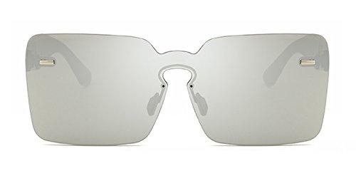 Slocyclub Future Fashion Warrior Oversized Rimless Sunglasses for Men ()