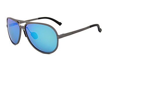 REMO Designer Fashion Sports Aviator Style Frame with Blue REVO Coating Lens - Revo Square & Sunglasses Rectangle