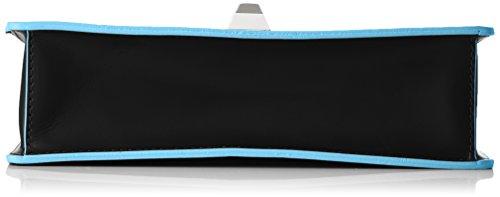 Chicca Borse Damen 8705 Henkeltasche, 26x18x8 cm Nero (Black)