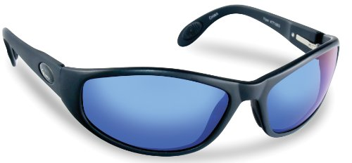 Flying Fisherman Viper Polarized Sunglasses, Black Frame, Smoke-Blue Mirror - Flying Glasses Fisherman