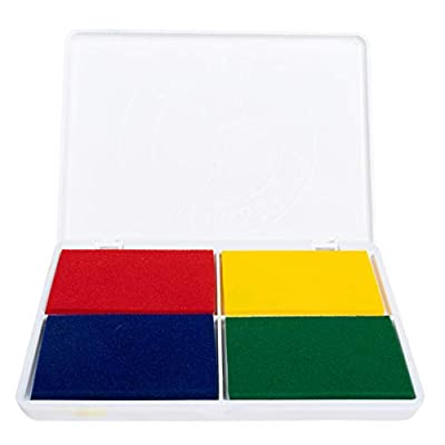 Center Enterprise SA540 Washable Primary Stamp Pad, 4 Colors IN: Toys & Games