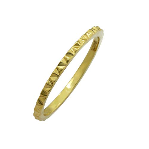 (KIERA New York 'Ring Bar' Pyramid Stacking Ring Size 8, Yellow Gold Plated Sterling Silver)