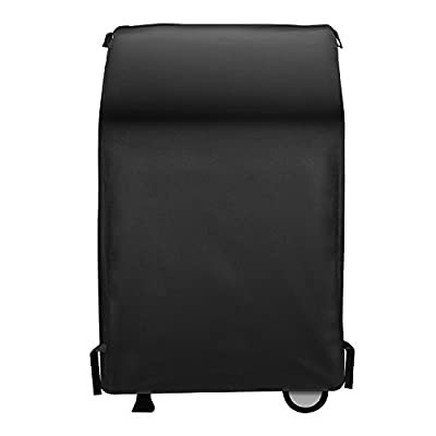 SunPatio Gas Grill Cover,Outdoor BBQ Grill Cover for Weber,Charbroil,Nexgrill and Brinkmann,Heavy Duty Waterproof Weather Resistant Durable Fabric,Black