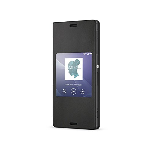Sony SCR26 Style Up Cover for Xperia Z3 - Sony Xperia Z3 Compact Black