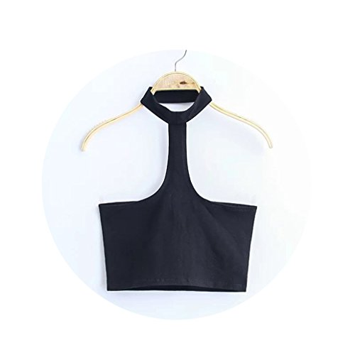 Sexy Elestic Crop Top Casual Off Shoulder Sleeveless Camis 2018 Summer Camisole (Propane Tank Top Heater Won T Stay Lit)
