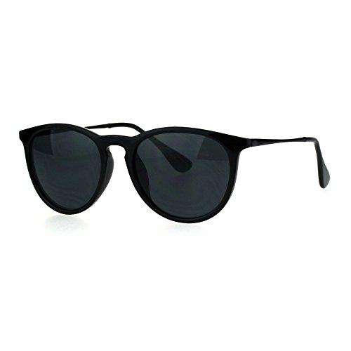 Mens Classic Mod Keyhole Minimal Plastic Horned Sunglasses All - Sunglasses Minimal