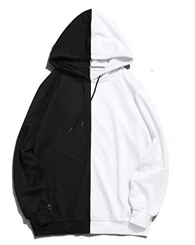 SV Funky Hoodie :Half Black & Half White